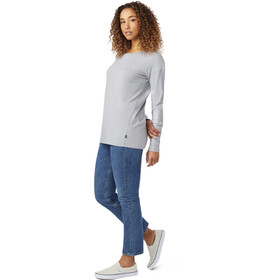 tentree Goji LS Shirt Women Gargoyle Grey Micro Stripe